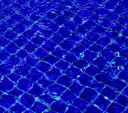 Background of water in the swimming pool with a wave Royalty Free Stock Images