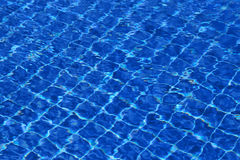 Background of water in the swimming pool with a wave Royalty Free Stock Photography