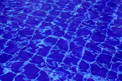 Background of water in the swimming pool with a wave Royalty Free Stock Image
