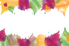 Background of watercolor abstract autumn leaves. With place for your text - vector illustration Stock Illustration