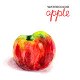 Background with watercolor apple Stock Images