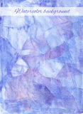 Watercolor background blue Stock Images