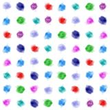 Background watercolor dots.  Artistic pattern mixed watercolor stains.  Watercolor circles Stock Image