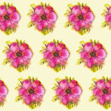 Background with watercolor flowers Stock Photos