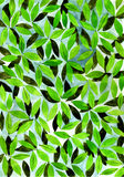 Background with watercolor leaves Stock Photo