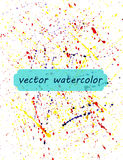 Background of watercolor paint spray Stock Images