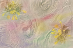 Background with watercolor stains anf flowers Royalty Free Stock Photos