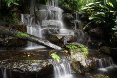 Background Waterfall rocks,Waterfall nature. Royalty Free Stock Image