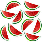 Background with watermelon slices Stock Image