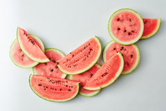 Background of watermelon slices Royalty Free Stock Photos