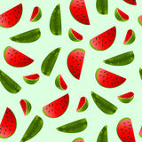 Background with watermelon slices. Stock Photos