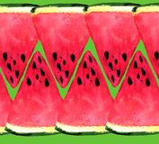 Background of  fresh watermelon slices. vector illustration