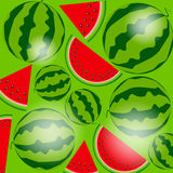 Background From Watermelon. Vector Illustration. Royalty Free Stock Photo