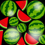 Background From Watermelon. Vector Illustration. Royalty Free Stock Images