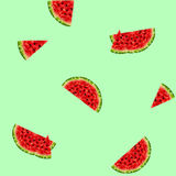 Background with watermelons Stock Photography