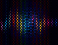 Background Wave. Abstract background of sound wave with speaker grille Royalty Free Stock Image