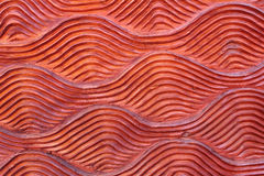 Wood carving wave style Stock Photo