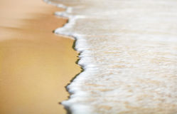Background of wave on the sand stock photo