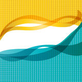 Background of the waves. Vector illustration in the background of the waves Stock Photos