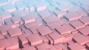 Background of waving cubes. stock video footage