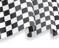 Background with waving racing Flag. Vector Stock Photos