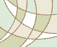 Background of wavy lines and figures.Vector illustration. Stock Photography