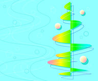 Background of wavy lines and figures.Vector illustration. Stock Images