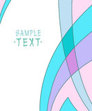 Background of wavy lines and figures.Vector illustration. Royalty Free Stock Photography