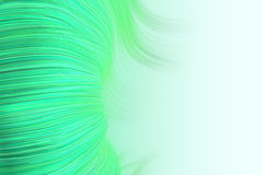Background of wavy lines in green Royalty Free Stock Photography