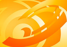 Background with wavy lines. Orange background with wavy lines in vectors Royalty Free Stock Images