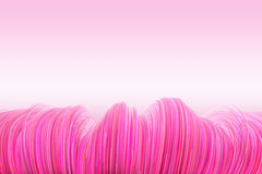 Background of wavy lines in pink. High quality rendering of wavy line background in pink Royalty Free Stock Photography