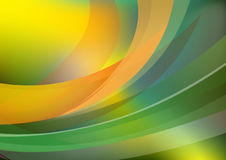 Background with wavy lines - vector. Green background with wavy lines in vectors Royalty Free Stock Image