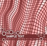 Background with wavy mosaic effect. Abstract  background with wavy mosaic effect and  space for your text Royalty Free Stock Photo
