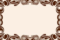 Background with wavy pattern. Beige background with wavy pattern on the edges of the frame Stock Photography