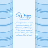 Background with wavy stripes Royalty Free Stock Images