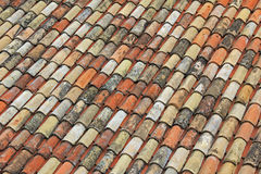 Background of weathered roof shingles in the old town Stock Photography