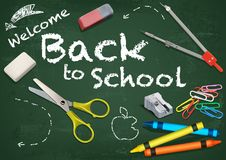 Background Welcome Back to School royalty free illustration