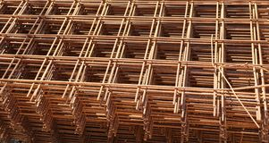 Background of welded net at the site. Heap of arusty welded net at the construction site royalty free stock photography