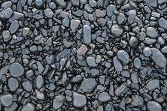 Background of wet black pebbles Royalty Free Stock Photography