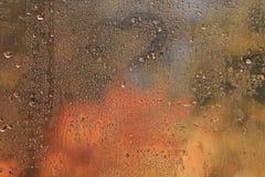 Background wet glass Stock Photos