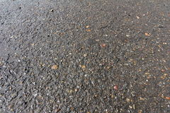 Background of wet gray asphalt for texture Royalty Free Stock Photography