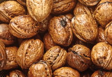 Background of wet walnuts Stock Photo