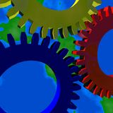 Background Wheels. 3d Presentation Background, Logo and Symbol Royalty Free Stock Images