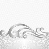 Background. White background with ancient ornaments Royalty Free Stock Photo