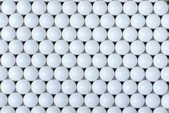 Background of white balls. airsoft 6mm. Stock Photos