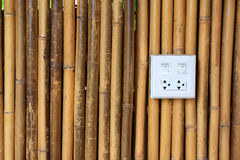 Background with white bamboo Stock Images