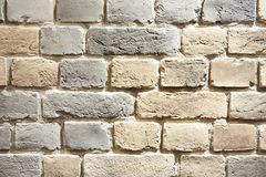 Background white brick wall. Closeup Royalty Free Stock Images
