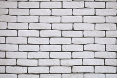 Background of white brick wall texture Stock Photography