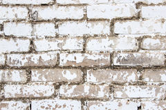Background of white bricks. An old brick wall. Building background. Close-up. Horizontal Stock Photos