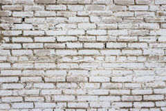 Background of white bricks. An old brick wall made of white brick. Building background. Horizontal Royalty Free Stock Image